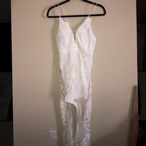 Hello Molly white lace long dress